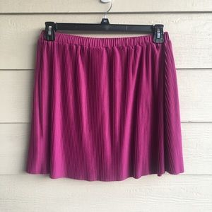 New Dusty Rose Pink Pleated Skirt XL